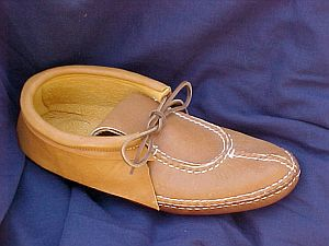 Carl Dyer's Center Seam With Toe Plug Moccasin