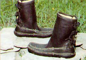 Carl Dyer's Rolled Button Moccasin