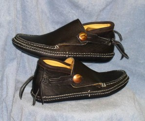 Custom Black Moccasins for Sale